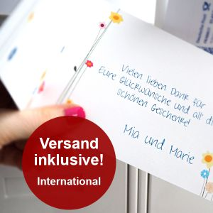 Einladungskarten Klappkarte (International)